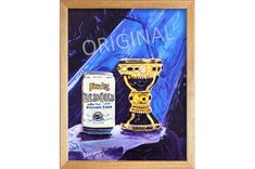 Solid Gold Premium Lager, Founders Brewing, Beer Painting, 50th Anniversary Gift, Holy Grail, Beer Artist, Craft Beer Birthday Gift for Him. By Scott Clendaniel. Painting On Wood, Painting Prints, 50th Anniversary Gifts, Home Bar Decor, Beer Art, Birthday Gift For Him, Cool Books, Beer Brewing, Gold Paint