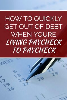 Many people think that paying odd debt takes a huge income, but even if you're living from paycheck to paycheck you can still become debt free. This article discusses how one blogger went from serious debt to a debt-free lifestyle while barely able to make ends meet. Click here to read the full story.