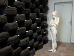 Perceived Sense of Art, 2013, laminated paper, sculpture by Lucima Yor, installation by Jan Samuel Jutko