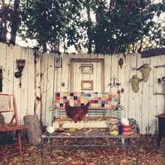 """kristin rogers' backyard """"chill spot""""  need some of that over here"""