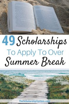 49 Scholarships To Apply To Over Summer Break - The Scholarship System Summer break is not a time to STOP thinking about college funding. Here are 32 scholarships to apply for over the summer break. Grants For College, College Fund, Financial Aid For College, College Planning, Education College, College Tips, College Checklist, College Dorms, Online College