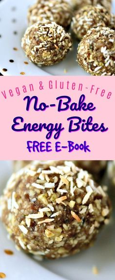 No-Bake Energy Bites are a great healthy snack. They're made using real food ingredients like nuts and seeds, and sweetened with whole food ingredients like dates. My recipes are vegan and gluten-free. Download my FREE mini cookbook and get started making these healthy treats today!