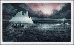"""Black Rock Light"" (2002) David Blackwood. 6-3/4 x 12 in. Etching and aquatint."