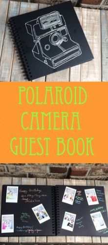 Polaroid camera guest book photo album. @papereffects @chicaandjo