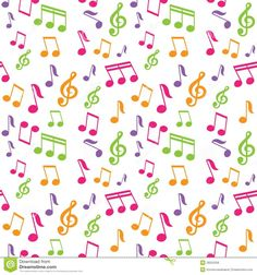 seamless pattern, unusual flowers on a yellow background, vector. Music Notes Background, Paper Background, Background Patterns, Motif Music, Music Wallpaper, Wallpaper Iphone Cute, Vintage Flowers Wallpaper, Music Wall Art, Music Crafts