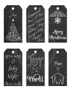 Printable Chalkboard Christmas Gift Tags Christian Designs-Jesus is the Reason
