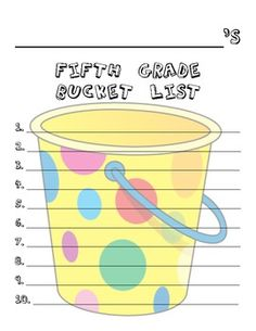 Here's a fun, easy, beginning of the year activity!  Have your students brainstorm a list of things they want to accomplish or do in 5th grade, the...