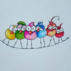 Birdwire Birdwire Related posts:Zierfelsen: - Ums Haus herum - # - Gartengestaltung Easy Step By Step Art Drawings To Practice - Bored Art Watercolor Cards, Watercolor Paintings, Art Fantaisiste, Happy Paintings, Whimsical Art, Bird Art, Doodle Art, Bird Doodle, Rock Art