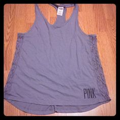 Selling this VS PINK lace tank in my Poshmark closet! My username is: kyleycottrell. #shopmycloset #poshmark #fashion #shopping #style #forsale #PINK Victoria's Secret #Tops