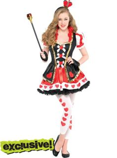 teen girls sassy queen of hearts costume party city most likely to be my halloween costume - Girls Football Halloween Costume