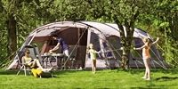Outwell tents - UK - Huge and lovely (and probably expensive) but why are no US manufacturers doing these? They all have very large clear vinyl  windows with air vents under the fly so even in rain you are not stuck in the dark