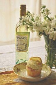 wine and cupcake