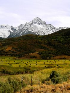Mount Sneffles from Ralf Lauren Ranch located near Ridgeway, Colorado on the Dallas Divide.