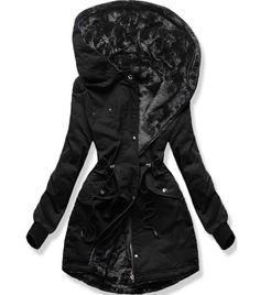 Dámska obojstranná zimná bunda A623 čierna - Bundy - MODOVO Online Shopping, Mode Blog, Clothes For Women, Jackets, Bob Hairstyle, Curly Bob, Collection, Coats, Design