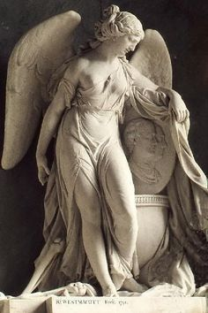 ☫ Angelic ☫ winged cemetery angels and zen statuary - Cemetery Angels, Cemetery Art, Angels Among Us, Angels And Demons, Michelangelo, Statue Ange, Art Manga, Manga Girl, Bild Tattoos