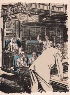 More mid-50's illustrations by Austin Briggs, from an old Readers Digest Condensed Book: