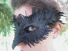 on my honor...: Book Report Inspiration: DIY Crow Carnivale Mask