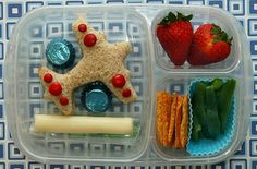 lunch lunchbox school teacher airplane strawberry, string cheese,