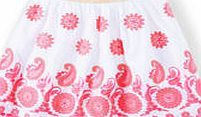 Johnnie  b Evie Skirt, White/Festival Pink 34746339 The Evie skirt is an extra special new addition to the range, in fairy-tale tulle embroidered with statement pink paisley. Its fabulous, but not too fussy - pulling on easily with an elastic stretch w http://www.comparestoreprices.co.uk/kids-clothes--girls/johnnie-b-evie-skirt-white-festival-pink-34746339.asp