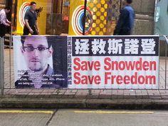 Hong Kong poster of Edward Snowden