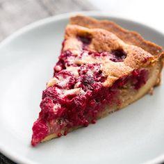 Raspberry Walnut Tart