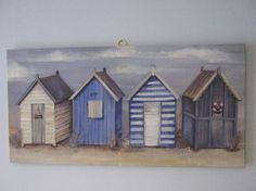 painting - beach huts