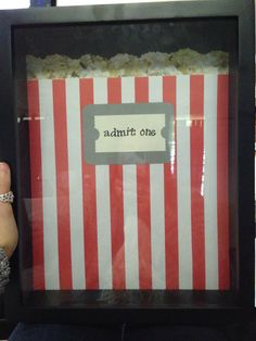 Gift idea for the ticket saver! Great shadow box slides open at the top to allow easy access to all saved stubs.