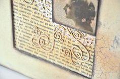 Vintage kép repedőfestékkel // Vintage picture with cracking paint