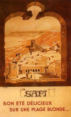 Safi Asfi View Morocco Arabic Arab Tourism Travel Vintage Poster Repo