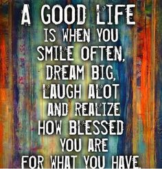 Smile and #laugh much.