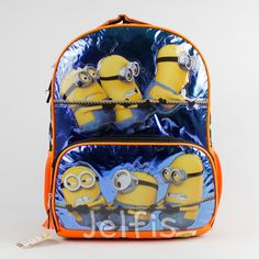a06735a07900 Despicable Me 2 16  Backpack - Large Minions Tug of War Boys School Book Bag