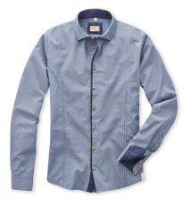 Q1 Hemd MAIK Denimfarbener Oxford, Minimal-Print in 100% Baumwolle Slim Fit, Oxford, Minimal, Shirt Dress, Mens Tops, Shirts, Shopping, Dresses, Fashion