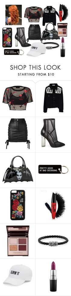 """""""Beatrice Jarrell"""" by darkshadowlyte ❤ liked on Polyvore featuring Versus, Steve Madden, Rock Rebel, Various Projects, Boohoo, Charlotte Tilbury, Thomas Sabo, SO and MAC Cosmetics"""