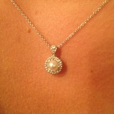 Love my pearl and diamond necklace from Windsor's