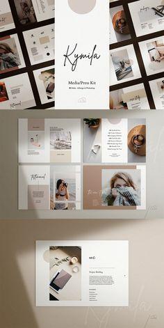 Brand Presentation, Presentation Templates, Design Typography, Branding Design, Layout Design, Web Design, Websites Like Etsy, Branding Template, Press Kit
