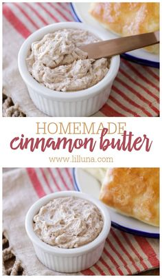 Sweet and fluffy cinnamon butter is whipped to perfection. With 4 ingredients and 5 minutes, it's even better than Texas Roadhouse!! #cinnamonbutter #butterspread #texasroadhousecinnamonbutter #texasroadhousebutter