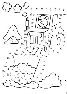 Dot to dot worksheets for your Kids. Here new dot to dot worksheets for kids. Connect points from 1 to 10 and pai. Coloring For Kids, Coloring Books, Coloring Pages, Preschool Worksheets, Preschool Activities, Dot To Dot Printables, Color By Numbers, Connect The Dots, Activity Sheets