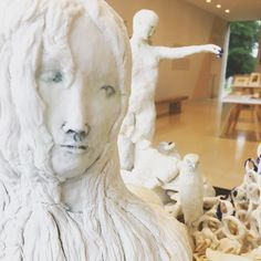 Visiting for Don't miss 'Tending the Fires' on display in the Lion Sculpture, Display, Ceramics, Statue, Gallery, Instagram Posts, Collection, Art, Floor Space