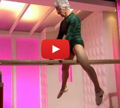 Seriously?!?!? This 86 year old gymnast is kind of beyond amazing. I couldn't do this when I was a kid! Lol