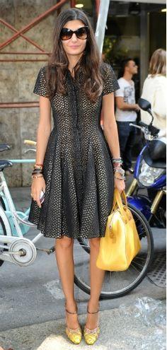 Giovanna Battaglia with Fendi Chameleon Bag (September 2011)