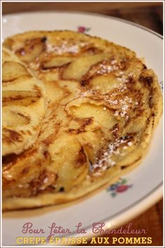 Apple pancake for Candlemas recipe from Laurent Mariotte Apple Recipes, Vegan Recipes, Waffles, Buckwheat Crepes, Cooking Time, Sweet Tooth, Brunch, Dessert Recipes, Food And Drink