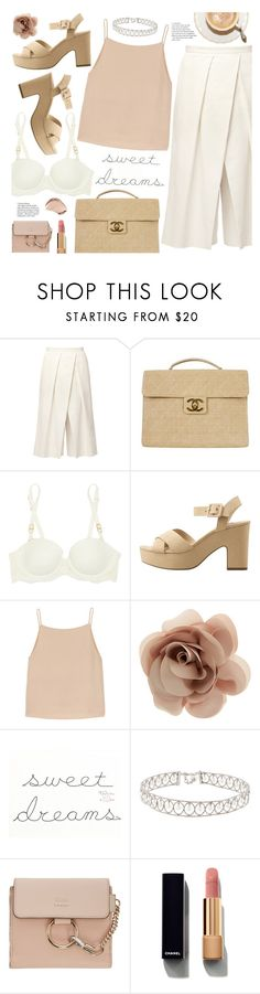 """sweet dreams"" by valentino-lover ❤ liked on Polyvore featuring TIBI, Chanel, STELLA McCARTNEY, MANGO, T By Alexander Wang, Accessorize, Chloé and Christian Dior"
