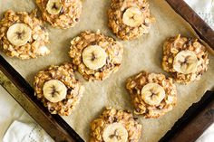 Peanut Butter, Banana and Chocolate 'Chunky Monkey' Cookies   These cookies are 6 ingredients, so simple to make and ready in under 30 minutes!