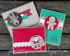 The photo doesn't show it but the white piece on the gingerbread and reindeer card is the dazzling diamond paper.