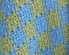 Two-Color Crochet Entrelac