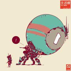 Gareth Davies is a concept artist based in the UK. Spaceship Art, Spaceship Concept, Robot Concept Art, Gareth Davies, Robots Drawing, Comic Style Art, Robot Design, Scooter Design, Fantasy Beasts