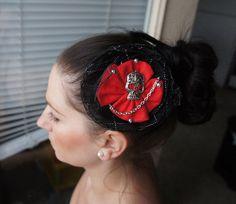 Olivia Paige Rockabilly Pin up Cameo13 skull hair clip