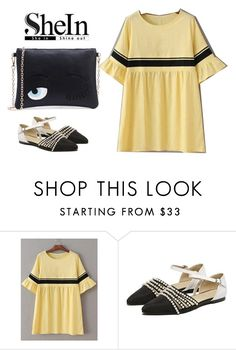 """""""shein style"""" by sheinside ❤ liked on Polyvore featuring WithChic"""