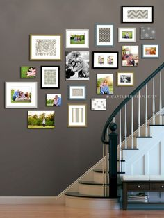 Wall Collage Ideas Staircases
