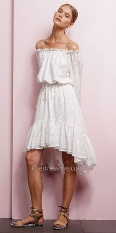 Ruffled Hi-Low Dress by EDM Private Collection #edressme